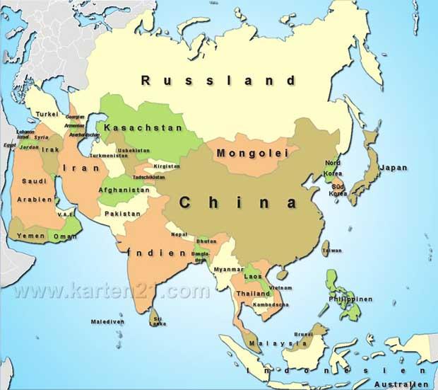 Landkarte Asien.Asien Karte Ideas Karte Decorating